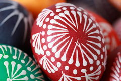 Easter eggs. Painted with wax Stock Images
