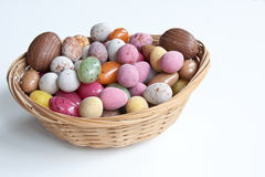 Easter Eggs. A basket full of chocolate & jelly Easter eggs Stock Image