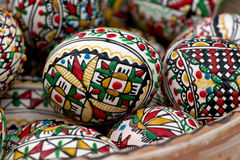 Easter eggs. Some painted Easter egg in plate Royalty Free Stock Photo
