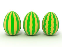 Easter Eggs. Isolated on white Royalty Free Stock Photo