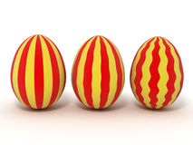Easter Eggs. Isolated on white Stock Photos