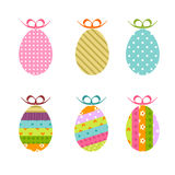 Easter eggs. Decoratived Easter eggs - colorful easter elements ( illustration Royalty Free Stock Photos
