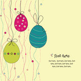 Easter eggs. Funny easter eggs with circles vector illustration