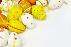 Easter Eggs. Colored Easter eggs in various colors and with different designs Stock Photos