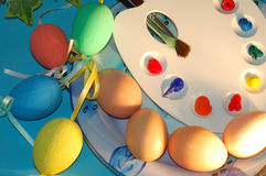 Easter eggs. In the plate Royalty Free Stock Photo