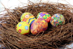 Easter Eggs. On a nest Stock Photography