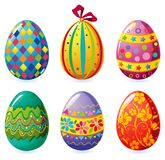 Easter eggs. Set of colorful Easter eggs