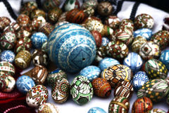 Easter eggs. Romanian traditional Easter eggs painted by hand by Romanian peasants Royalty Free Stock Images