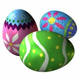 Easter Eggs. 3 D Computer Render of Easter Eggs Royalty Free Stock Image