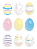 Easter Eggs. Nine Easter Eggs with pastel colors Royalty Free Stock Photography