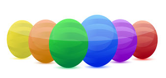 Easter eggs. Different color easter eggs isolated over a white background Stock Photos