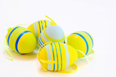 Easter eggs. On white. Decorative Easter royalty free stock photography