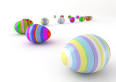 Easter eggs. Computer generated image of  decorated easter eggs isolated on white background Royalty Free Stock Images