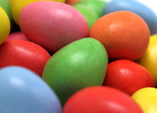 Easter Eggs. Close-up of colorful miniature candy coated chocolate easter eggs Royalty Free Stock Image