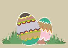 Easter Eggs. Illustration of easter eggs with patterns Vector Illustration