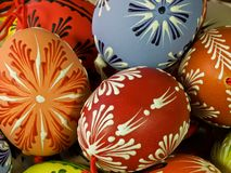 The easter eggs. Royalty Free Stock Image