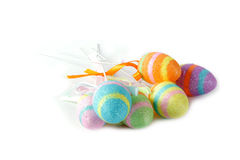 Easter Eggs. Colorful Easter eggs isolated in white background Royalty Free Stock Image