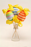 Easter eggs. Colorful easter eggs in the vase Royalty Free Stock Photography
