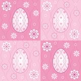 Easter eggs. And flowers in squares Royalty Free Illustration