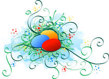 Easter eggs. Multicolored easter eggs are in heaven Royalty Free Stock Photography