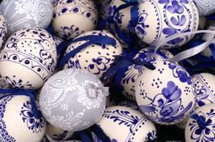 Easter eggs. A close-up of home made easter eggs royalty free stock photography