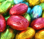 Easter eggs. Different colored small Easter eggs Stock Photos