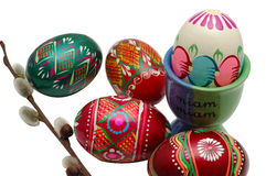 Easter eggs. Isolated on white background Royalty Free Stock Photos
