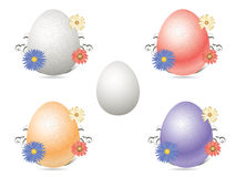 Easter Eggs. Easter egg  graphics with floral effect Stock Photo
