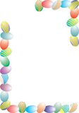 Easter eggs. Colorful easter eggs decoration border Royalty Free Stock Images