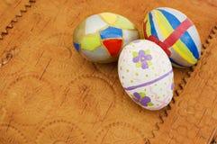 Easter eggs. Colored easter eggs on birchen bark Stock Image