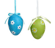 Easter  eggs. Easter eggs with different theme isolated on white background Stock Photo
