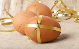 Easter Eggs. Egg-a gift isolated on white background Royalty Free Stock Images