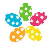 Easter eggs. Colorful easter eggs decorated with flowers Stock Photography