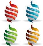 Easter eggs. Happy easter eggs colored illustration vector illustration