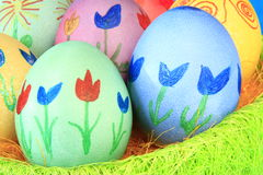 Easter eggs. Many colorfully painted Easter eggs Royalty Free Stock Images