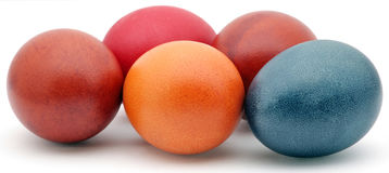 Easter eggs. Easter decoration with easter eggs stock image