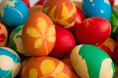 Easter eggs. Colorful Easter eggs close up Royalty Free Stock Photos