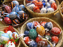 Easter eggs. For sale Stock Photo