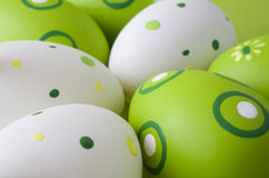 Easter eggs. Assorted easter eggs close up Stock Image