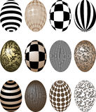 Easter Eggs. Of various colors and patterns Royalty Free Stock Photos