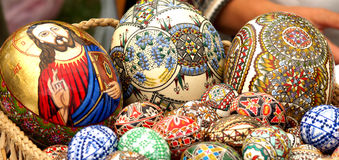 Easter eggs. Nice close up with easter painted eggs Royalty Free Stock Image