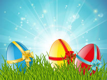 Easter eggs. In green grass Royalty Free Stock Photo