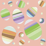 Easter Eggs. Pastel Color seamless background Royalty Free Stock Photography