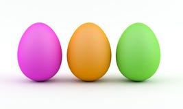 Easter eggs. Three colorfull eggs for easter Stock Illustration