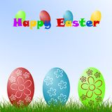 Easter eggs. Colorized Easter eggs on the grass Royalty Free Stock Photography