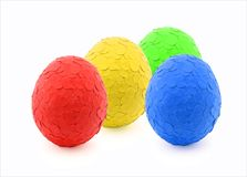 Easter eggs. Colored with dots from punch Stock Photography