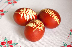 Easter eggs. With floral pattern Stock Image