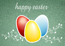 Easter eggs. Three colored easter eggs illustration on grey background Stock Photos