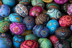 Easter eggs. Painting with beeswax Royalty Free Stock Photography