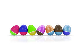 Easter eggs. Colorful Easter eggs isolated on white Stock Image